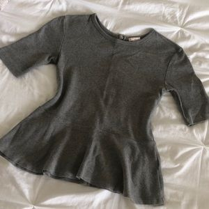Peplum Gray Shirt